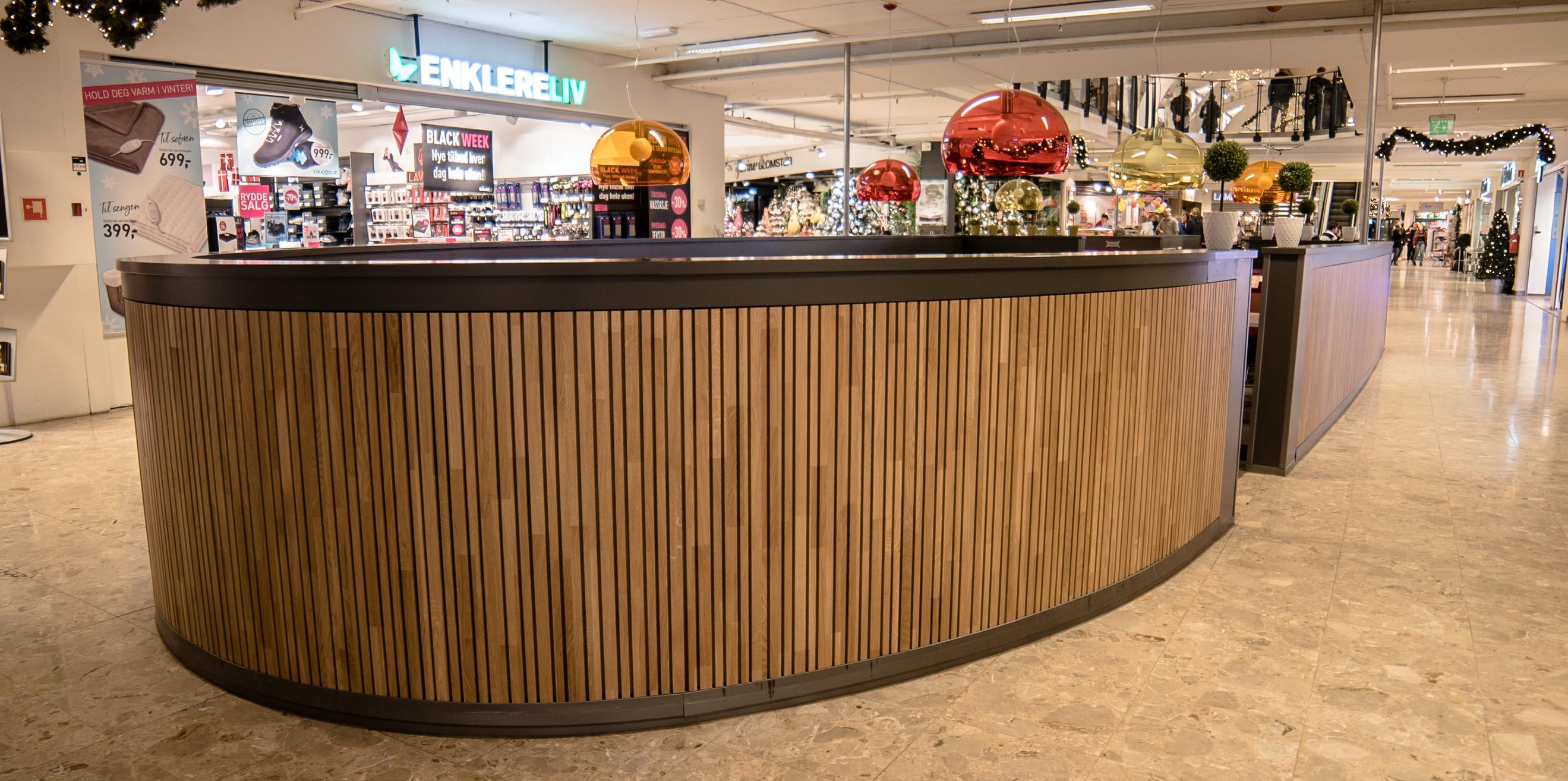 Flexi spilevegg ferdig montert hos Magneten Kjøpesenter, Levanger